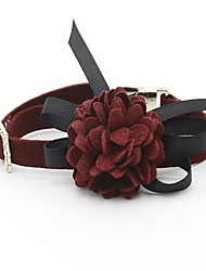 Collar Foldable Adjustable Flower/Floral British Lace Fabric