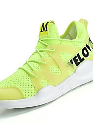 Women's Athletic Shoes PU Spring Summer Low Heel White Black Green Blushing Pink Under 1in