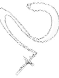 Women's Pendant Necklaces Platinum Plated Gold Plated Cross Fashion Silver Golden Jewelry Wedding Party Daily Casual 1pc