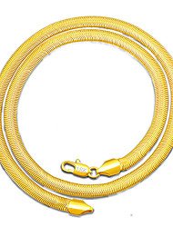 MPL European and American new lovers flat snake chain 18K copper plated necklace