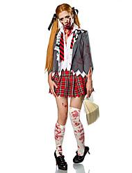 Косплэй Kостюмы Костюм для вечеринки Зомби Вампиры Фестиваль / праздник Костюмы на Хэллоуин Белый + красный Винтаж Пальто Блузка Юбки