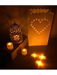 10 Pieces/Group Wedding Decoration   Candle Bags/DIY Handmade Paper Lanterns/Festive Romantic Decoration Candle Bags