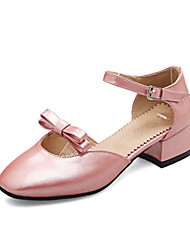 Damen Sandalen Pumps PU Sommer Kleid Party & Festivität Pumps Schleife Niedriger Absatz Gold Silber Rosa 2,5 - 4,5 cm