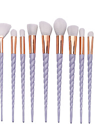 10 Pcs Warna Oval Dan Fan Profesional Makeup Brushes Set Dengan Alis Eyeliner Eyeshadow  Highlighter