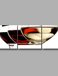 Stretched Canvas Print Three Panels Canvas Wall Decor Home Decoration Abstract Modern Wine Cup