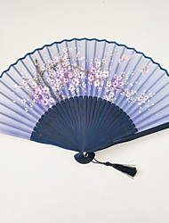 Floral Butterfly Silk Fan With Random Pattern 1 PCS Per Order