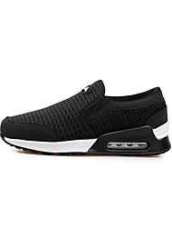 Men's Sneakers Comfort Tulle Spring Casual Screen Color Black/White Black Flat