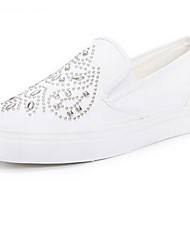 Women's Flats Comfort PU Spring Casual Black White Flat