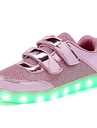 Kids Sneakers Light Up Shoes Paillette Spring Fall Casual Outdoor LED Flat Heel Pink Gold Walking  Shoes