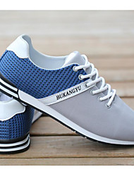 Men's Sneakers Comfort Canvas Spring Casual Gray Navy Blue Black/Red Flat