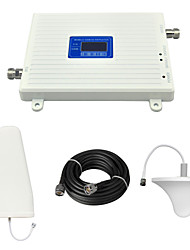 2G GSM 900mhz 3G W-CDMA 2100mhz Mobile Phone Dual Band Signal Booster Repeater with Log Periodic Antenna / Ceiling Antenna / Cable / White