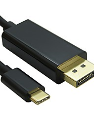 DisplayPort Кабель, DisplayPort to USB 3.1 Type C Кабель Male - Male 4K*2K 1.8M (6 футов)