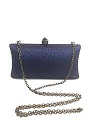 Ladies Stylish Fashion Bag Clutch Crystal Evening Navy