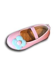 Girls' Flats Light Soles PVC Summer Fall Casual Dress Walking Light Soles Flower Flat Heel Blushing Pink Blue Black Under 1in