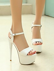 Women's Heels Basic Pump Comfort PU Fall Casual Basic Pump Comfort Ruby Black White 5in & over