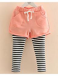 Baby Striped Leggings Spring 2017 Korean Style Girls' New Children's Wear Children's False Two Trousers