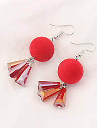 Women's Drop Earrings Tassels Euramerican Fashion Copper Glass Ball Jewelry Party Daily 1 Pair