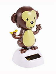 Creative Solar Automatic Swinging Monkey Decoration For Office Desktop 1PC