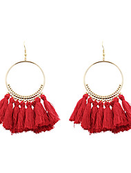 Women's Drop Earrings Jewelry Tassel Personalized Euramerican Costume Jewelry Fashion Poly/Cotton Alloy Circle Jewelry For Wedding