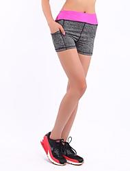 Femme Shorts de Course Cuissard  / Short pour Yoga Exercice & Fitness Térylène Serré Jaune Fuchsia Rouge S / M