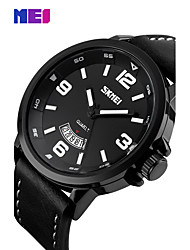 SKMEI Fashion Casual Quartz Watch Man Waterproof Sports Military Leather Strap Wrist watches