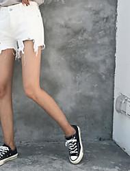 Feminino Moda de Rua Cintura Alta Micro-Elástica Solto Calças,Solto