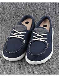 Men's Sneakers Comfort Fabric Spring Casual Comfort Navy Blue Flat