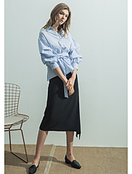 EVEN THOUGHWomen's Casual/Daily Asymmetrical Skirts A Line Solid Summer