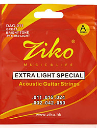 Ziko Acoustic Guitar Strings Light DAG011 Brass Steel Strings For Guitar Acoustic Strings Set guitar strings