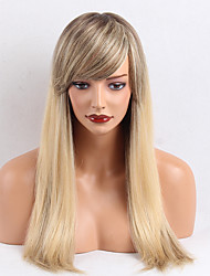 Beautiful Oblique Bangs  OmbreColor  Long  Straight  Human Hair Wigs