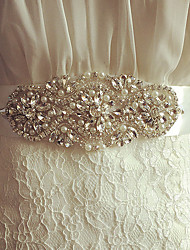Satin Wedding Party/ Evening Sash-Beading Rhinestone Beading Rhinestone