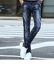 Herren Aktiv Mittlere Hüfthöhe Mikro-elastisch Jeans Skinny Hose