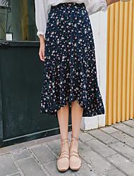 Mujer Casual/Diario Midi Faldas Verano Floral
