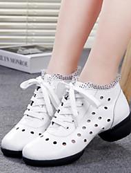 Keine Maßfertigung möglich Damen Tanz-Turnschuh Tüll Sneakers Praxis Weiß Schwarz Rot