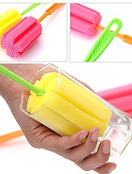 2PCS Sponge Glass Bottle Cup Cleaner Kitchen Washing Cleaning Tools Random Colors