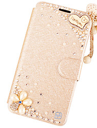 For iPhone X iPhone 8 iPhone 6 iPhone 6 Plus Case Cover Rhinestone with Stand Flip Full Body Case Glitter Shine Hard PU Leather for Apple