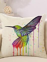 1 Pcs 3D Colorful Bird Printing Pillow Cover Creative Cotton/Linen Pillow Case Home Decor