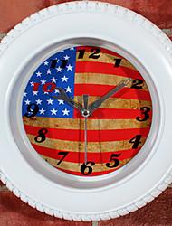 Modern/Contemporary Office/Business Music School/Graduation Friends Wall Clock,Novelty Metal Silica Gel Others Indoor Clock