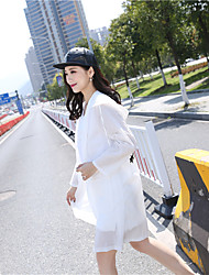 Women's Beach Simple Spring Trench Coat,Print Hooded Long Others