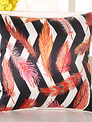1 Pcs Top Grade Emulation Silk Striped Leaf Pillow Case 3D Fashion Pillow Cover