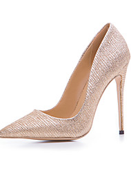 Damen High Heels Pumps Stoff Sommer Herbst Normal Gold 10 - 12 cm