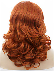 Celebritywig 16inch Mix Orange Cosplay Wig Wigs Synthetic Lace Front Wigs Drag Queen