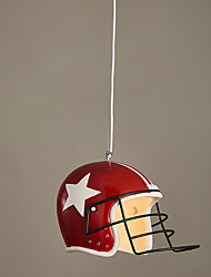 Vintage Personality Helmet Pendant Lights Loft Style Contracted Pendant Lamp Creative Hanging Light Bar Art Deco Indoor Lighting