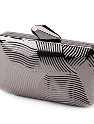 L.WEST Woman Fashion Luxury High-grade Metal Box Geometric Evening Bag