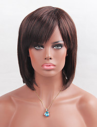 MAYSU Partial Fringe Medium Long BOBO Synthetic   Wig