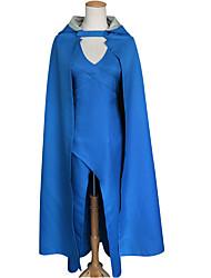 Una Sola Pieza/Vestidos Disfraces de Cosplay Capa Cosplay Cosplay de películas  Vestido Más Accesorios Halloween Mujer