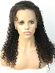 Illusion Natural Hairline Deep Curl  Human Hair Lace front Wig