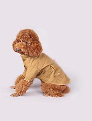 Dog Coat Dog Clothes Casual/Daily Solid Khaki Jade