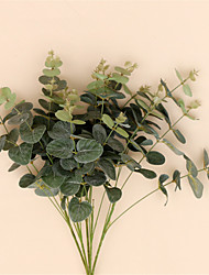 Artificial Plants Bouquet Green Fake Plants Plastic Real Touch Leafe Fern Silk Artificial Leaves Wedding Decoration Home Decor