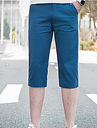 Homme simple Taille Normale strenchy Mince Pantalon,Mince Couleur Pleine